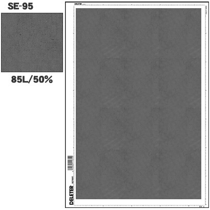 SE-95 [スクリーントーン デリータースクリーン アミ点 85L 50%]