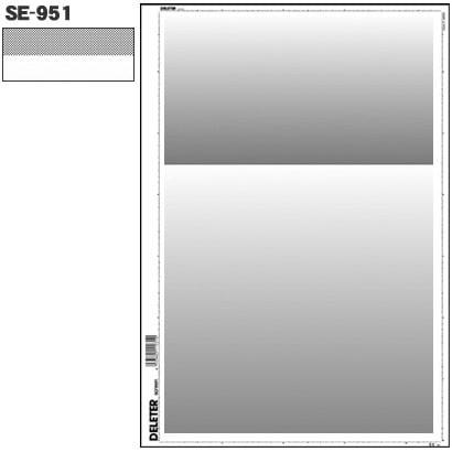 SE-951 [スクリーントーン デリータースクリーン グラデ 60L 0-40% 2段]