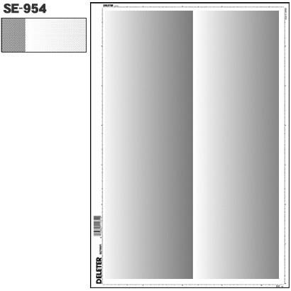 SE-954 [スクリーントーン デリータースクリーン グラデ 60L 0-40% 2列]