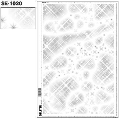 SE-1020 [スクリーントーン デリータースクリーン 効果 キラキラ 60L]