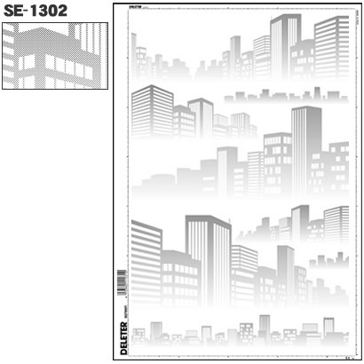 SE-1302 [スクリーントーン デリータースクリーン 背景 ビル街 60L]