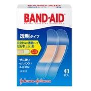 J&J バンドエイド 透明 40枚 [低アレルギー性粘着剤使用絆創膏]