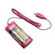 OWL-CHBT(P)S-SP [ 乾電池式 MicroUSB 充電器 単3×2本タイプ 「電池 de GO!」 ピンク]