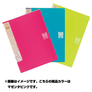 16606 [Just Motto シリーズ ポッケDEファイル JD-243 マゼンタピンク A4]