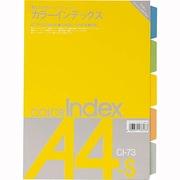 13613 [カラーインデックス カラーインデックス CI-73 5色5山 A4判S型]