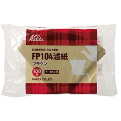 FP104濾紙 [コーヒーフィルター ブラウン 100枚入り]