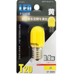 LDT1Y-H-E17 11 [LED電球 E17口金 黄色]