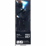 RBEP057 [3.5mm ステレオイヤホンマイク フラットコード ブラック]