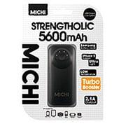 M56BK-01 [Michi 5600mAh USB出力:1ポート 最大:2.1A BK]