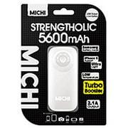 M56WH-01 [Michi 5600mAh USB出力:1ポート 最大:2.1A WH]