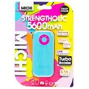 M56CMBL-01 [Michi 5600mAh USB出力:1ポート 最大:2.1A BL/PK]