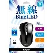 MUS-RKF97BK [無線5ボタン BLUE LEDマウス ブラック]