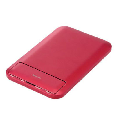 BV-CLM6000-RD [Bluevision Clamshell 6000mAh USB出力:2ポート 最大合計:2.5A Mobile Battery for iPhoneSmartphones Red]
