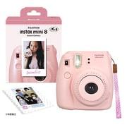 チェキカメラ INS MINI8 PINK N [チェキ instax mini8 ピンク 純正ハンドストラップ付き]