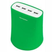 5.1A_USB4T_JP_1196 5.1A USB4ポート充電器 Green