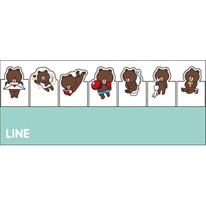 592710007 [付箋 LINE(ライン)<2>C.ブラウン]