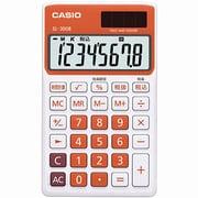 SL-300B-RG-N [カラフル電卓 手帳タイプ 8桁 フレッシュオレンジ]