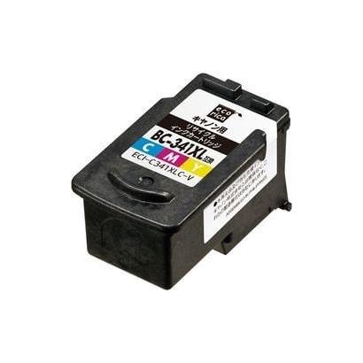 ECI-C341XLC-V [キヤノン BC-341XL 互換リサイクルインクカートリッジ カラー]