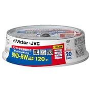 VD-W120P20Y [録画用DVD-RW 120分 書換型 1-2倍速 片面1層 4.7GB 20枚 ホワイトレーベル インクジェットプリンター対応]