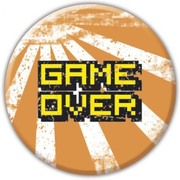 BBL 25mmバッジ BBL0618 GAME OVER