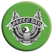 BBL 25mmバッジ BBL0734 GREEN DAY /GREEN EAGLE (BRAVADO)