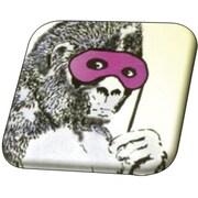 Banksy 32mmスクエアバッジ BKB008 Banksy /Gorilla Mask [缶バッジ]