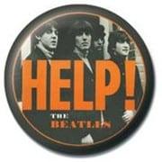 PB 25mmバッジ PB1733 THE BEATLES  /Orange Help [缶バッジ]