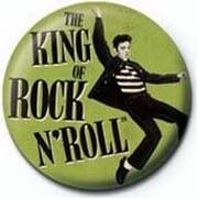 PB 25mmバッジ PB1955 ELVIS PRESLEY  /King Of Rock N Roll