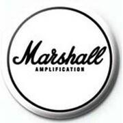 PB 25mmバッジ PB1966 MARSHALL /White Logo