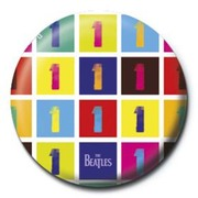 PB 25mmバッジ PB3640 THE BEATLES  /Number 1 Collage
