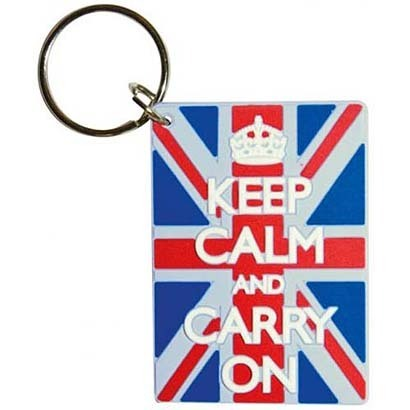 ラバーキーリング RKY-059 KEEP CALM AND CARRY ON  / Union Jack