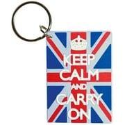 ラバーキーリング RKY-059 KEEP CALM AND CARRY ON  / Union Jack