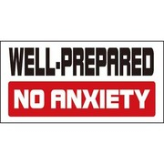PS-004 [コトワザステッカー 備えあれば憂いなし WELL-PREPARED NO ANXIENTY 防水加工]