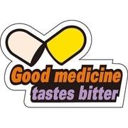PS-013 [コトワザステッカー 良薬口に苦し Good medicine tastes bitter 防水加工]