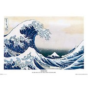 S1105 [Sイラストポスター HOKUSAI-GREAT WAVE]