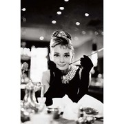 S2337 [Sシネマポスター AUDREY HEPBURN BREAKFAST AT TIFFANY'S BandW]