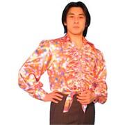 ダンスシャツ ピンク水玉
