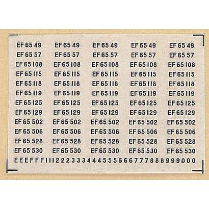 542 [Nゲージ EF65ナンバーインレタ3 メタ銀]