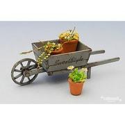 SS-020 [1/24 木製手押し車と植木鉢]
