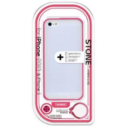 MB-IP5SSNPK [iPhone SE/5s/5用 STONE 2 ハイブリッドケース ピンク]
