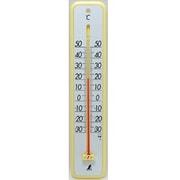 48362 [温度計 プラスチック製 30cm イエロー]
