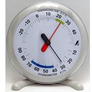 70495 [温湿度計 Q-1 丸型 15cm ライトグレー]