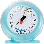 70498 [温湿度計 Q-3 丸型 6.5cm ライトブルー]