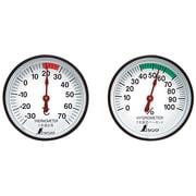72674 [温度計・湿度計セット ST-4 丸型 4.5cm]