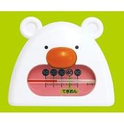 73052 [風呂用温度計 B-9 くまさん ホワイト&ピンク]