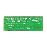 66013 [テンプレート TE-5 英数字記号定規]