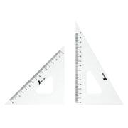 77066 [三角定規 アクリル製 18cm 2枚組]