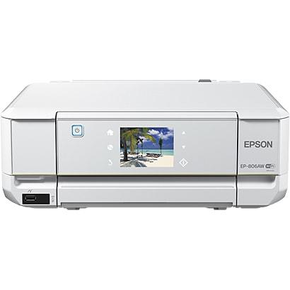 EP-806AW [インクジェットプリンター Colorio(カラリオ) プリント/スキャン/コピー/無線LAN機能搭載/Wi-Fi対応 A4対応 ホワイト]