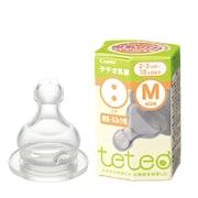 テテオ 乳首母乳・ミルク用 1個入 Mサイズ [対象月齢:2・3ヶ月~18ヶ月頃まで]
