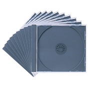 FCD-PN10BK [DVD/CDケース(1枚収納) 10枚セット ブラック]